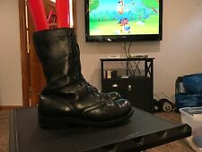 Vintage Black Leather Military / Combat Boots Womens Size 9 M