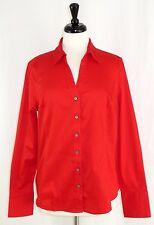 Calvin Klein Shirt L Non-Iron Long Sleeve Button Front Red
