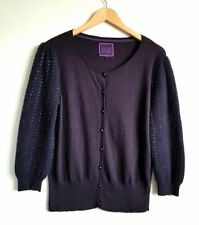 BUTTERFLY BY MATTHEW WILLIAMSON LADIES PURPLE CARDIGAN SIZE 14