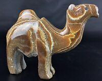 """Magnifique rare statuette orientalisme -  sculpté sur pierre veinée  """"chameau"""""""