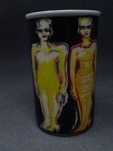 Vintage Rosenthal Art Collection Nr.3 Porzellan Objekt  Vase Elvira Bach