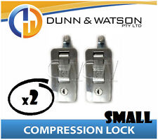 Small Chrome Compression Lock / Handle / Latch (Pop Omega Trailer Canopy ) x2