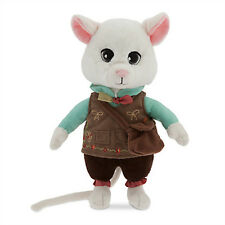 Tim Burton's Alice in Wonderland 2016 Movie DORMOUSE White Mouse Stuffed Plush