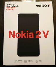 New Verizon Prepaid - Nokia 2 V TA-1136 8GB Smartphone Blue/Silver