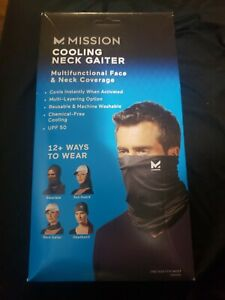 Mission Cooling Neck Gaiter - Black - 12+ Ways to Wear!  NIB!