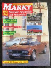 Markt für Klassische Automobile und Motorräder März 1990, Peugeot 504 Coupé