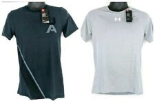 NEW Lot of 2 Under Armour Mens Small S Fitted HeatGear Short Sleeve Shirts NWT