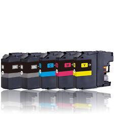 5 Drucker Patronen für BROTHER LC221BK LC221C LC221M LC221Y mit Chip
