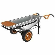 WORX Aerocart Multifunction 2-wheeled Yard Cart Dolly and Wheelbarrow With Fla