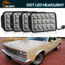 4x6'' LED Headlights Hi-Low Beam Fit Chevy El Camino 1982-87 Monte Carlo 1980-88