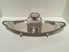 BELLA qualità in argento calamaio & tavolo Londra 1896 Thomas Bradbury