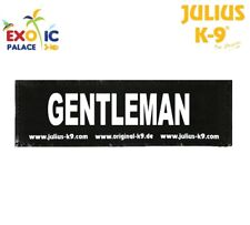 JULIUS-K9 2 ETICHETTE VELCRO PATCH GENTLEMAN PER PETTORINA CANE IDC BELT POWER