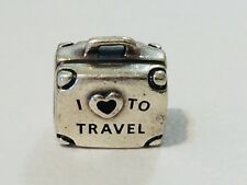 Authentic Pandora I Love To Travel Suitcase Charm 791243