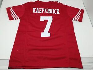 NIKE COLIN KAEPERNICK #7 SAN FRANCISCO 49ers RED NFL FOOTBALL JERSEY YOUTH SMALL