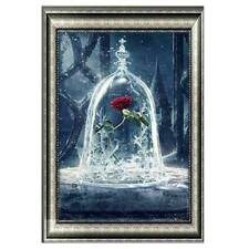 5D Diy Drill Diamond Painting Roses in Glass Cross Stitch Art Embroidery Decor