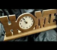 UNUSUAL RUSTIC WOOD HOME 🏠  MANTEL. SHELF. FIREPLACE CLOCK!