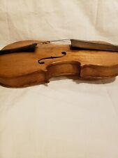 Antique Unbranded Violin For Restoration With Strings And Soundbar