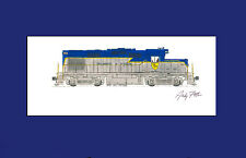 """Delaware & Hudson RS36 11""""x17"""" Matted Print Andy Fletcher signed"""