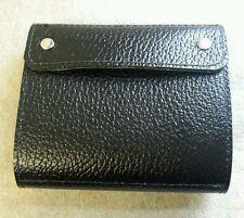 Shotgun Choke Case / 12 Bore Cartridge Case Black buffalo hide/ Green leather