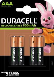 4 Duracell Akku AAA 900mAh Nickel-Metall-Hydrid im 4er Blister