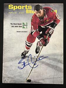 Stan Mikita Signed Sports Illustrated 1/31/66 NoLabel Hockey Blackhawks Auto JSA