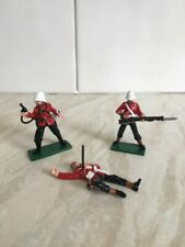 3 X 24th Foot soldiers. Zulu Wars. Rorkes Drift. Britains compatable. New Dead.