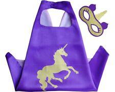 Purple Unicorn Superhero Cape & Mask