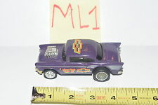MATTEL ARCO '57 CHEVY PURPLE - PULL BACK & GO ACTION - LOOSE