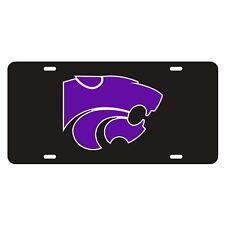 Kansas State Tag (Black Refl Pur Power Cat Tag (21001)