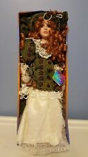 Ashley Belle Collectible Porcelain Doll with Display Stand 17 in.Tall FOR  8 +