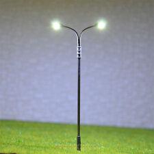 20 pcs OO / HO Gauge Model Lamppost SMD LEDs made Light height adjustable #QD95D