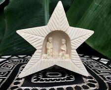 Crèche de Noël 5 santons forme étoile en bois sacré Mpanjaka de Madagascar