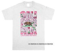 Cali Floral Bear California Republic  Graphic T shirt