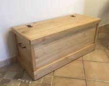 Cassapanca in legno di castagno 98x40x45H SP.2CM