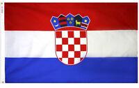 NEW 3x5 ft CROATIA CROATIAN FLAG better quality usa seller