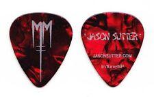 Marilyn Manson Jason Sutter Signature Red Pearl Guitar Pick - 2013 Tour
