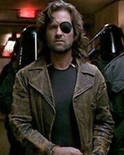 Escape from LA Kurt Russell Snake Plissken Distressed Brown Leather Jacket