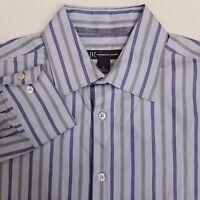 INC International Concepts Button Up Shirt Men's Small S Purple Striped