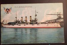 Naval Cover Lot 86 Battleship USS Connecticut Great White Fleet 1908 Postcard