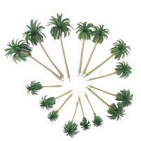 15Pcs 5 Size Model Tree Scenery Model Coconut Palm Trees HO O N Z Scale 160∼70mm
