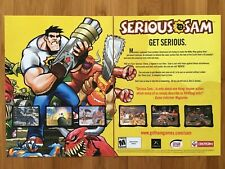 Serious Sam PC PS2 Playstation 2 Xbox 2002 Poster Ad Print Art Official Genuine