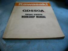 OEM Kawasaki GD550A Portable Generator WorkShop Manual
