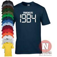 Made in 1984 t-shirt birthday party celebration fancy dress Teeshirt
