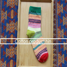 Unisex Stripe Soft Cotton Socks Design Multi-Color Dress Casual Men Women Socks