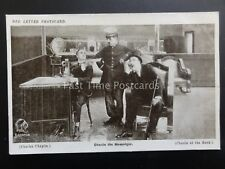 Charlie Chaplin CHARLIE THE MESSENGER Red Letter Photocard c1915