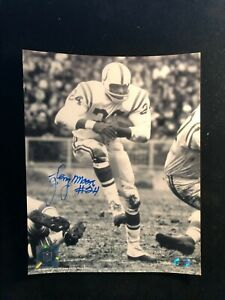 Lenny Moore Signed Autographed Photo COA Baltimore Colts