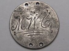 "LOVE TOKEN: Silver US 1889 Dime - Monogrammed ""MWC"".  #13"