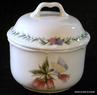 NORITAKE china  CONSERVATORY pattern 7915  ~ Covered Sugar Bowl