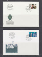 Switzerland Mi 1385/1403, 1989 issues, 5 sets in singles on 15 cacheted FDCs