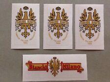 "Kit adesivi "" Edoardo Bianchi "" nuovi stickers bicicletta bike Vintage Oro"